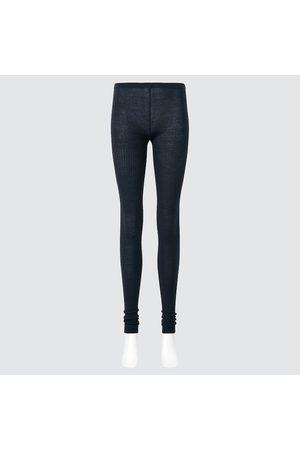 UNIQLO Women Sweats - Women's HEATTECH Knitted Ribbed Extra Long Leggings, , S/M