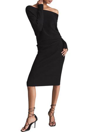 Reiss Women's Lara Mix Rib Long Sleeve Sweater Dress