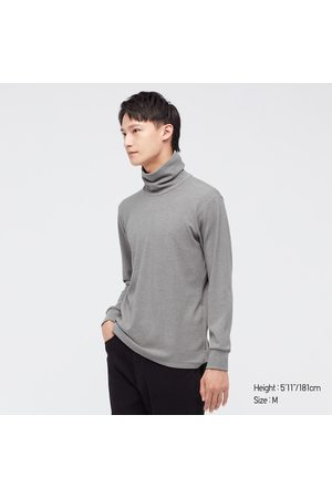UNIQLO Men Long Sleeve - Men's HEATTECH Ultra Warm Turtleneck Long-Sleeve T-Shirt, , XS