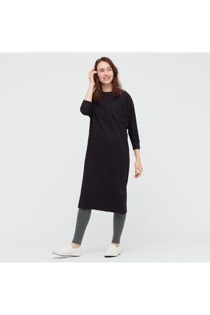 UNIQLO Women Sweats - Women's HEATTECH Knitted Ribbed Leggings, Gray, S/M