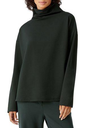 Eileen Fisher Women's Funnel Neck Ponte Knit Top