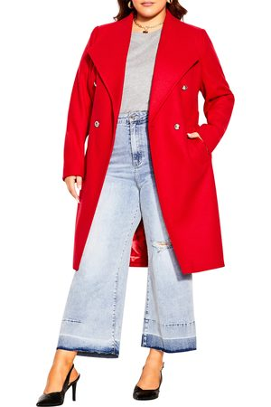 City Chic Plus Size Women's Military Coat