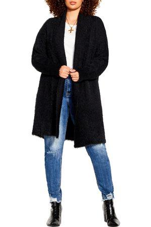 City Chic Plus Size Women's Fluffy Cardigan