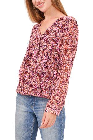 Vince Camuto Women's Floral Wrap Front Blouse