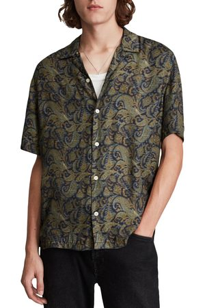 AllSaints Men's Transmission Relaxed Fit Print Short Sleeve Button-Up Shirt