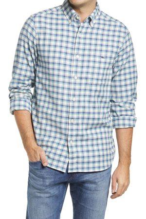 Vineyard Vines Men's Island Twill Check Cotton & Linen Button-Down Shirt