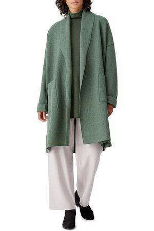 Eileen Fisher Women's Open Front Boiled Wool Jacket