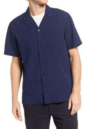 FRANK AND OAK Men's Worker Organic Cotton Short Sleeve Button-Up Shirt