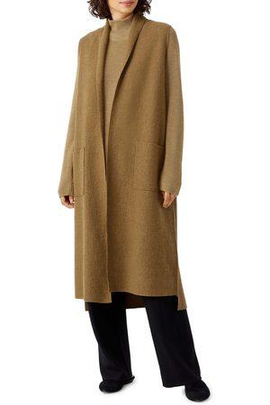 Eileen Fisher Women's Boiled Wool Long Vest