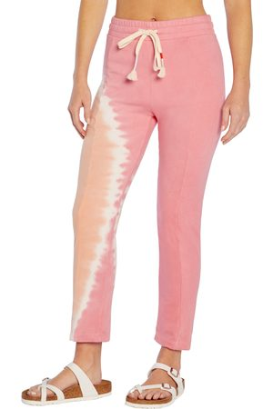 Wild Fox Women's Wildflox Kara Sherbet Tie Dye Cotton Fleece Pants