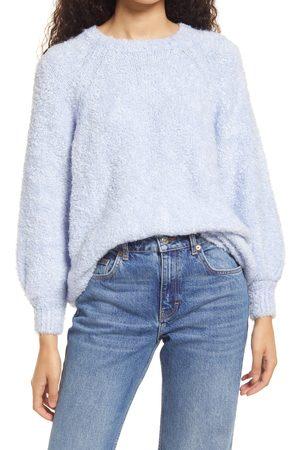 Topshop Women's Blouson Sleeve Boucle Sweater