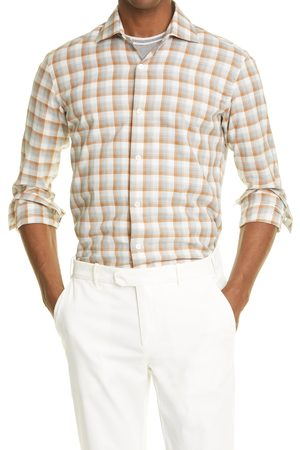 ELEVENTY Men's Plaid Button-Up Shirt
