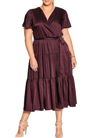 City Chic Plus Size Women's Faux Wrap Dress