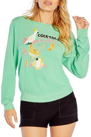 Wild Fox Women's Cocktails Cockatiels Graphic Sweatshirt