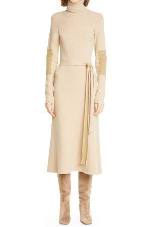 Victoria Beckham Women's Colorblock Double Face Long Sleeve Sweater Dress