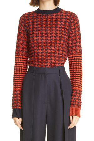 Victoria Beckham Women's Houndstooth Wool & Cotton Sweater
