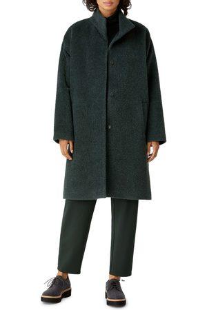 Eileen Fisher Women's Stand Wool Blend Collar Coat
