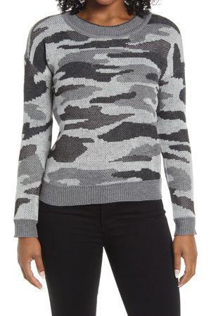 Bobeau Women's Camo Crewneck Sweater