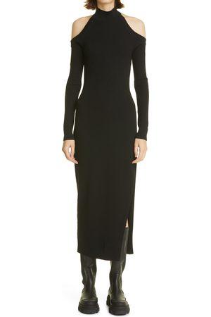 MONSE Women's Cutout Detail Long Sleeve Sweater Dress