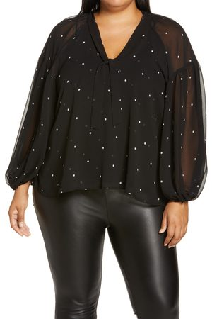 Halogen Plus Size Women's Halogen Blouson Sleeve Blouse