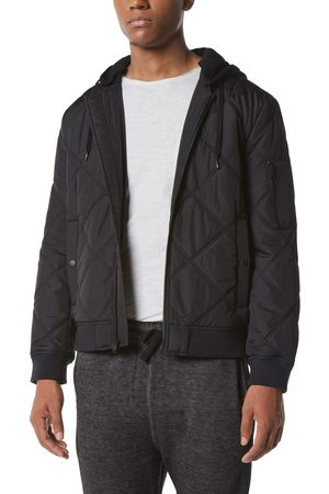 Marc Jacobs Men's Water Resistant Bomber Jacket With Removable Hood