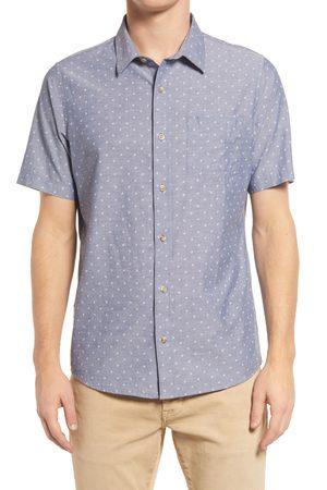 Travis Mathew Men's Square Dance Dobby Short Sleeve Button-Up Shirt