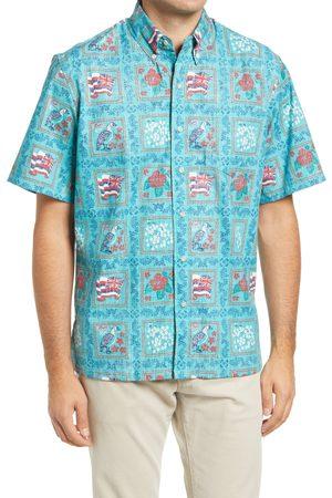 Reyn Spooner Men's 65Th Anniversary Lahaina Sailor Short Sleeve Button-Down Shirt