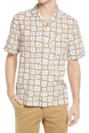 Original Penguin Men's Floral Short Sleeve Button-Up Camp Shirt