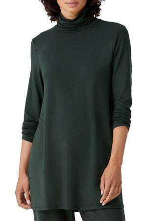Eileen Fisher Women's Scrunch Neck Jersey Tunic