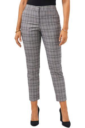 Vince Camuto Women Straight Leg Pants - Glen Plaid Straight Leg Pants