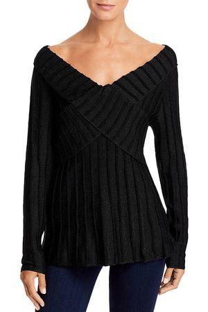 SINGLE THREAD Women Sweaters - Lurex Off-the-Shoulder Sweater