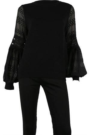 Sioni Women Sweaters - Mixed Media Sweater