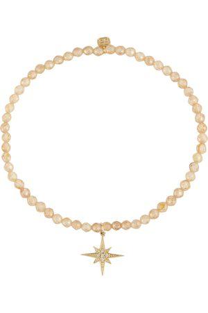Sydney Evan Starburst zirconia bracelet with 14kt yellow gold charm