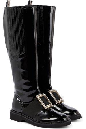 Roger Vivier Viv' Rangers leather knee-high boots