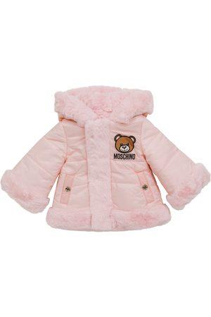 Moschino Baby faux fur coat