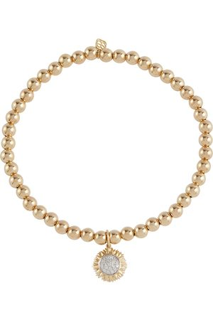 Sydney Evan Sunflower 14kt bracelet with diamond