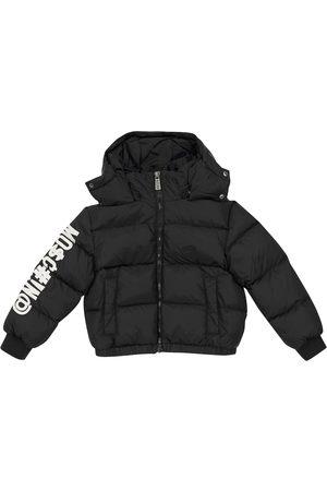 Moschino Logo print down jacket