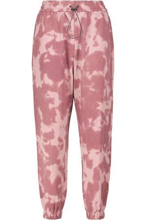 Varley Tie-dye cotton-blend sweatpants