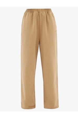 Balenciaga Women Sweatpants - Logo-embroidered Oversized Cotton Track Pants - Womens