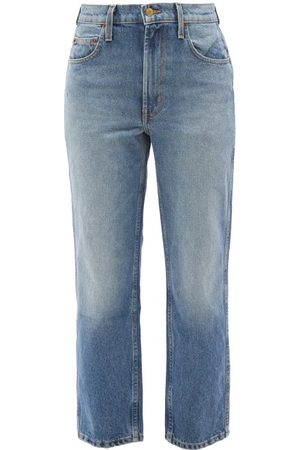 B SIDES Women High Waisted - Louis High-rise Cropped Jeans - Womens