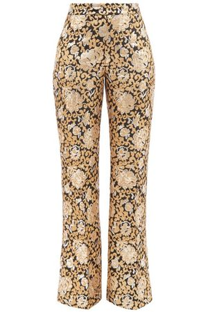The Vampire's Wife The Bell Ringer Brocade Wide-leg Trousers - Womens