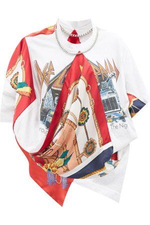 JUNYA WATANABE X Versace Def Leppard-print Patchwork T-shirt - Womens - Multi