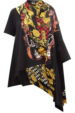 JUNYA WATANABE X Versace Kiss-print Cotton-jersey T-shirt - Womens - Multi