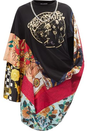 JUNYA WATANABE Women Dresses - X Versace Chain-embellished Scarf Dress - Womens - Multi
