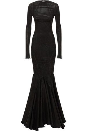 Rick Owens Cotton Denim Long Dress