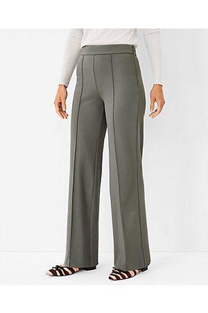 ANN TAYLOR Women Straight Leg Pants - The Curvy Side Zip Straight Pant