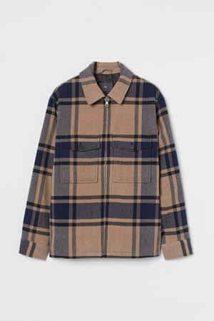 H&M Men Jackets - Wool-blend Shirt Jacket