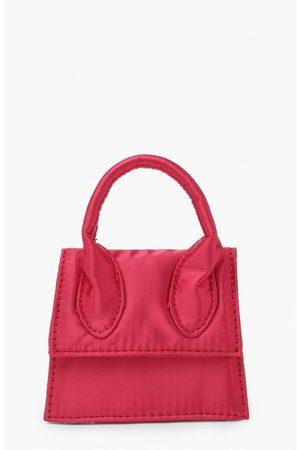 Boohoo Womens Mini Satin Grab Bag - - One Size