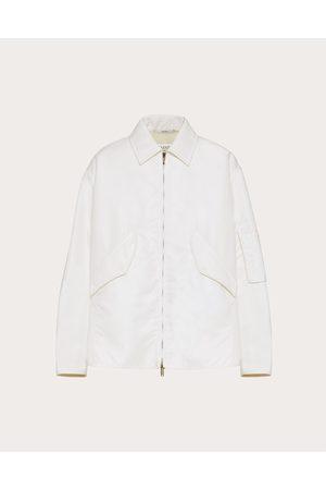 VALENTINO Men Sports Jackets - Nylon Blouson With Wool Lining Man Ivory 100% Poliammide 46