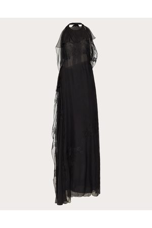 VALENTINO Women Evening dresses - Evening Dress In Chiffon And Lace Women 100% Silk 38